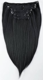 African American Hair Extensions - Yaki Straight Clip-in Extensions