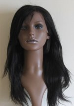 Yaki lace wig with choppy layers and side parting