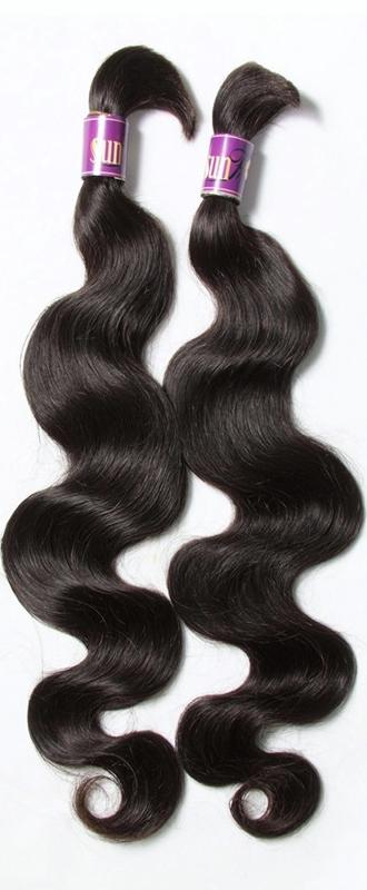 African American Human Hair Extensions -  Wavy Braiding Hair