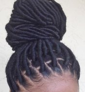 Wrapped hair extensions for dreadlocks