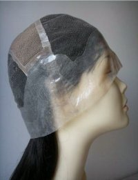 full lace cap wig with ear-to-ear stretch and a thin skin perimeter