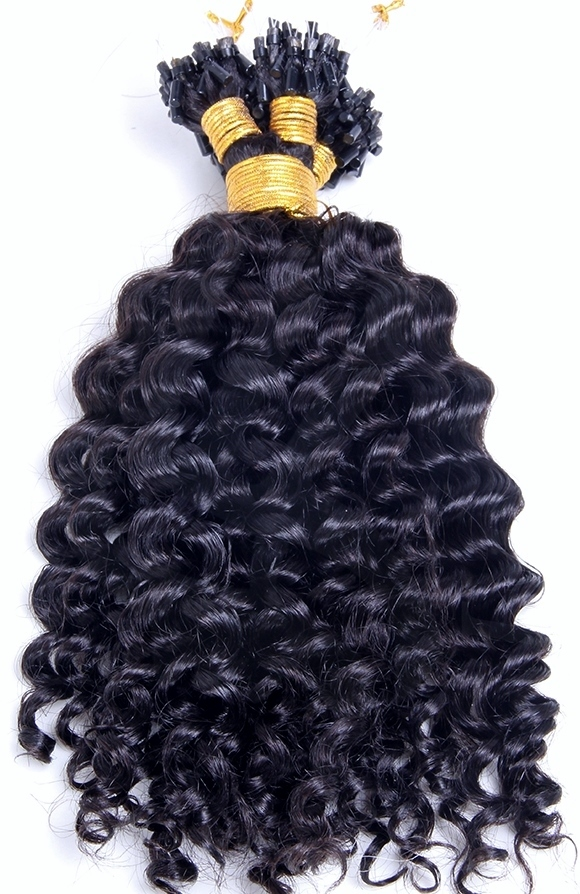 Curly Micro Loop Human Hair Extensions