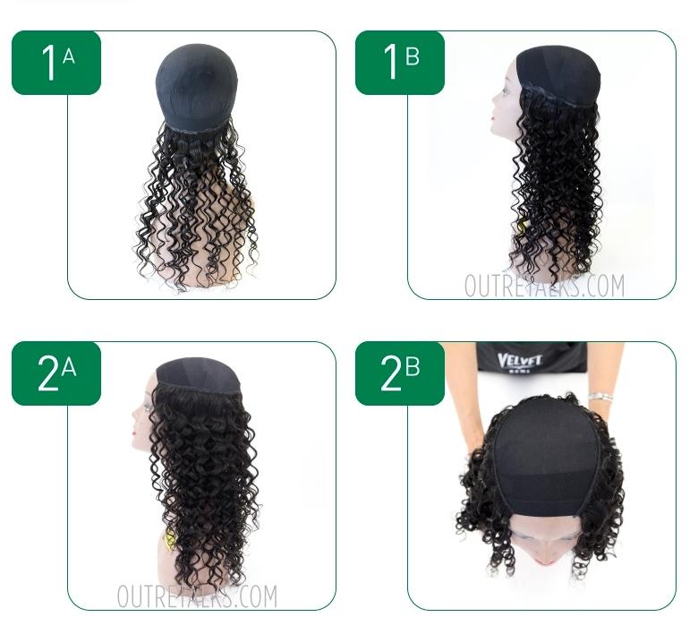 Sewn in hair extension - hair weave