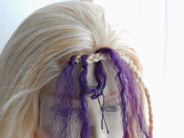 Crochet braids with bobbby pin step by step