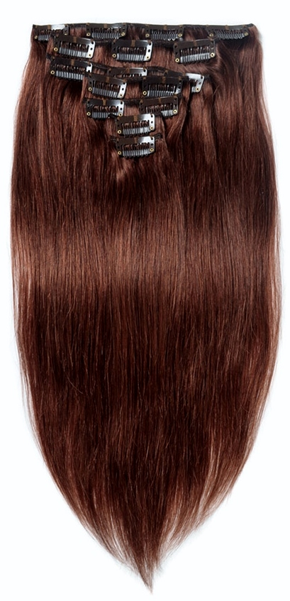 Clip-in Hair Extensions Texture: Silky Straight