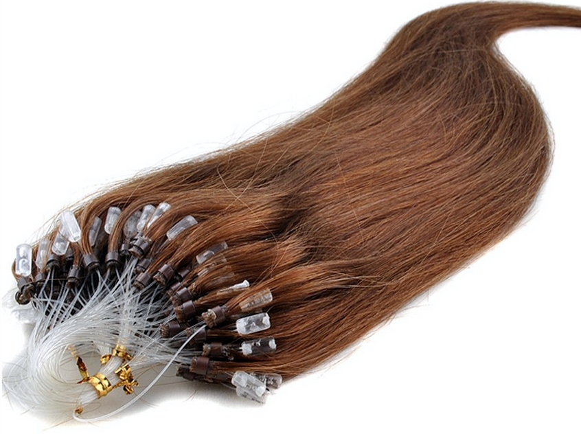 Silky Straight Micro Loop Human Hair Extensions