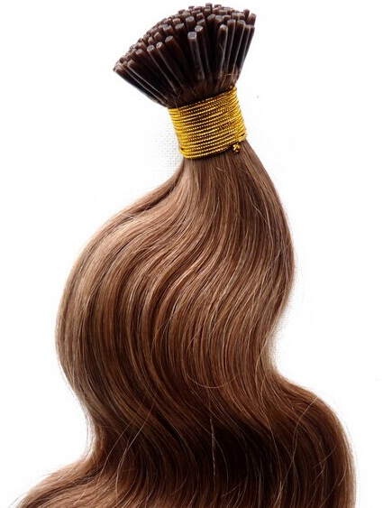 Micro ring hair extensions (also known as I-tip and stick tip extensions)