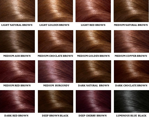 Hair colours for wigs