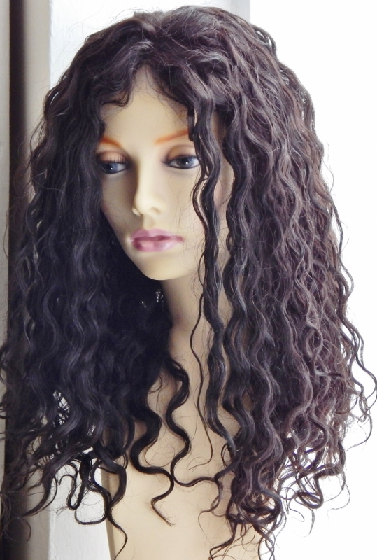 18 Inch Water Wave Lace Front Wig After Washing