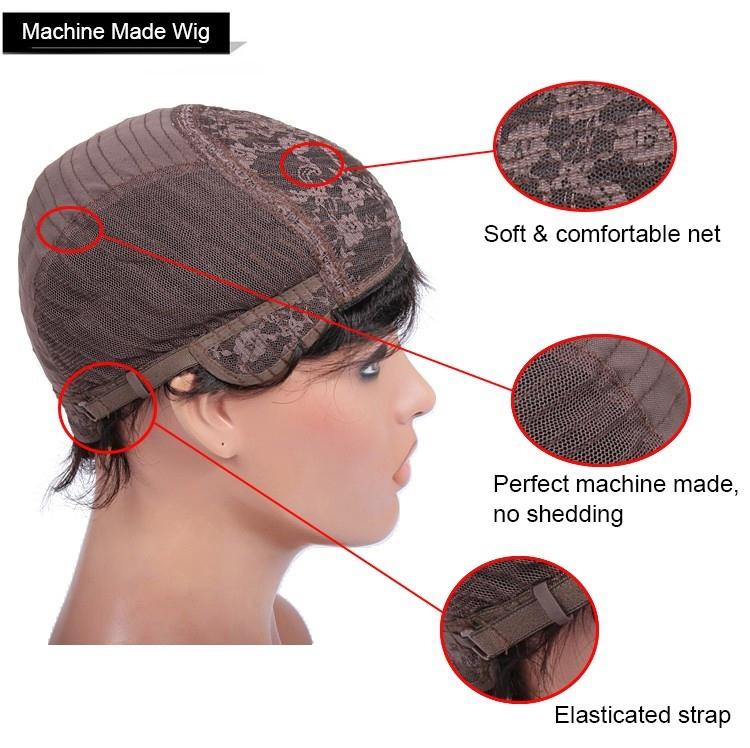 Traditional machine made wig