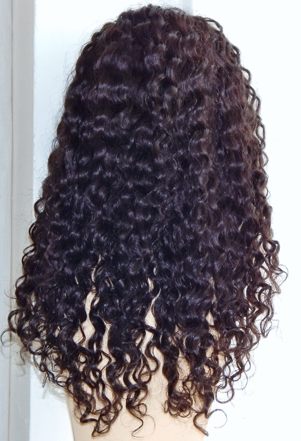 18 Inch Deep Wave Lace Front Wig Back
