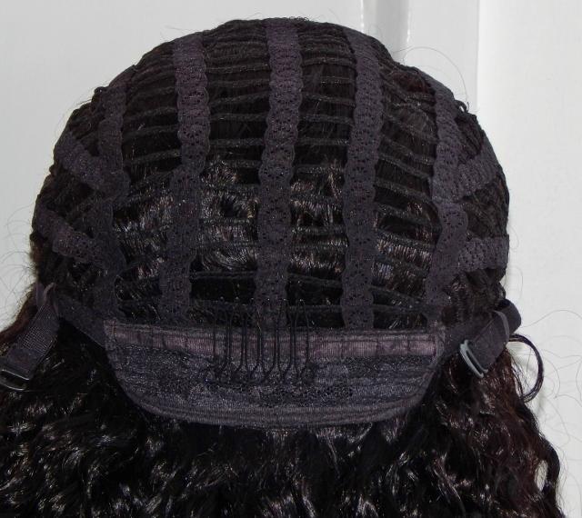 V-Lace Front Wig: Vicki- 18 Inch Loose Curl Cap Back