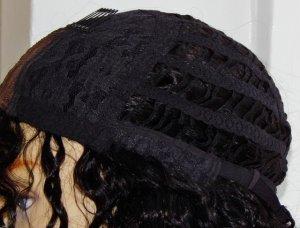 V-Lace Front Wig: Vicki- 18 Inch Loose Curl Cap Side