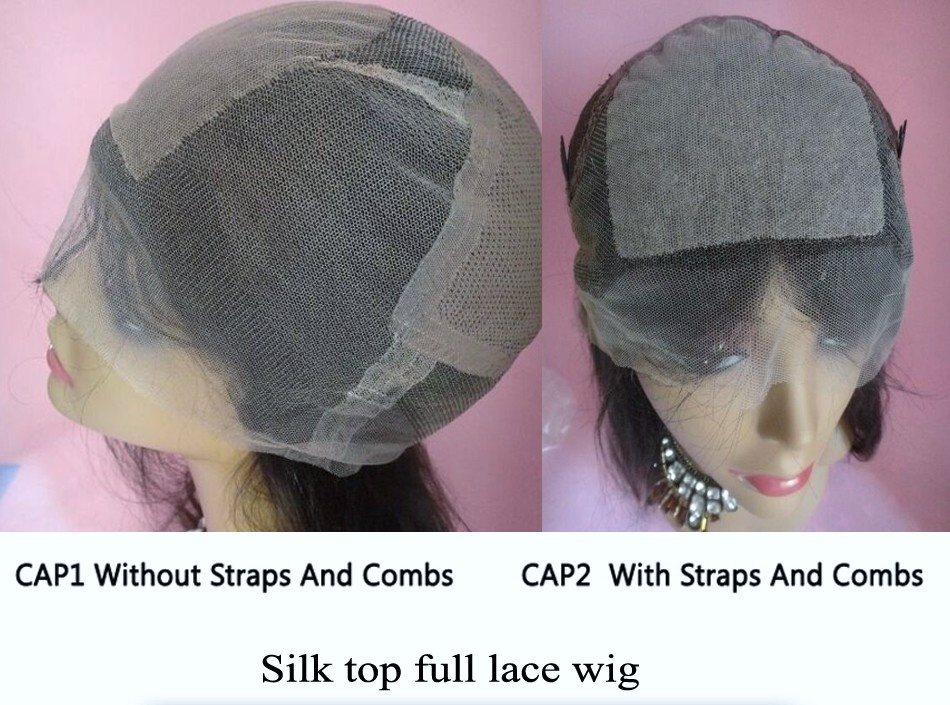 Variation of Full lace cap wigs with stretch at the crown