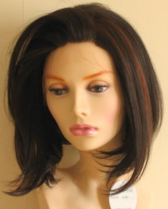 Synthetic lace front wig (bob cut) without baby hair
