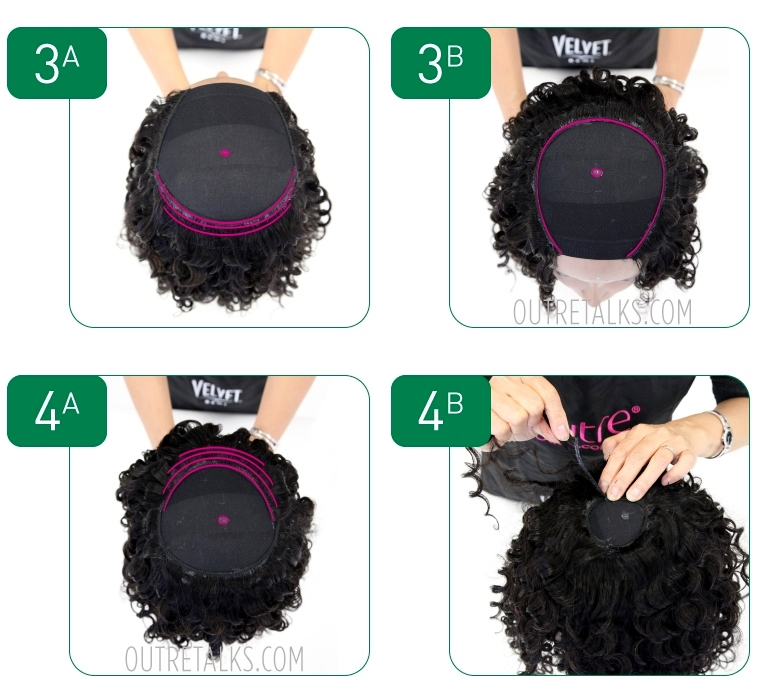How to make a wig - steps 3-4