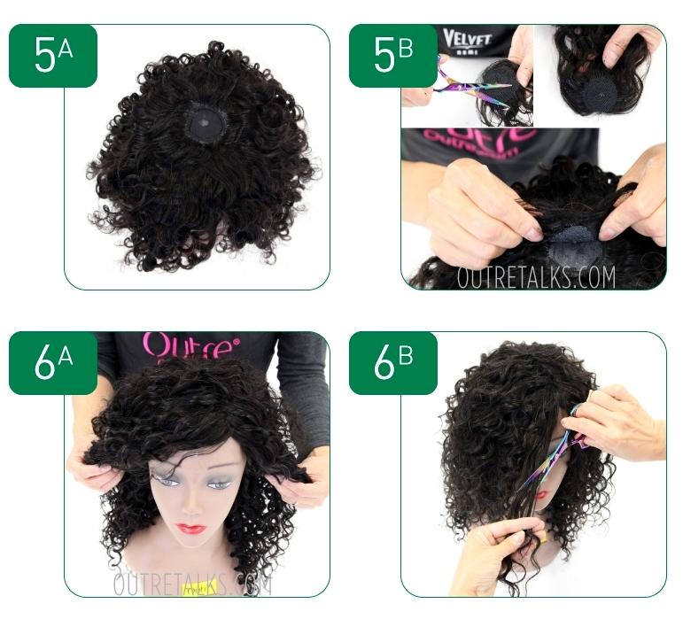 How to make a wig - steps 5-6
