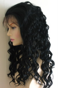 Wavy full lace wigs - deep wave texture