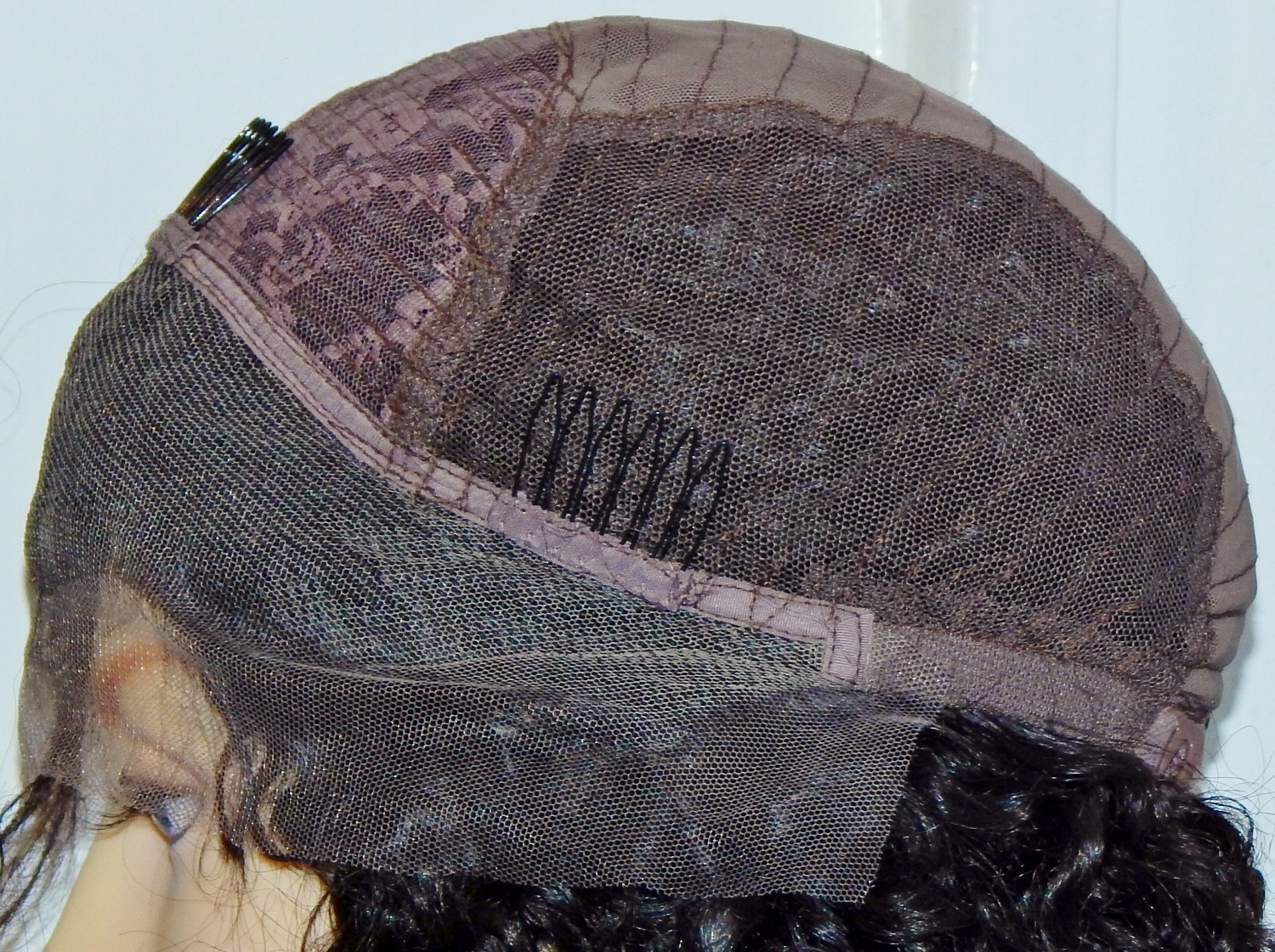 Lace front wig cap side