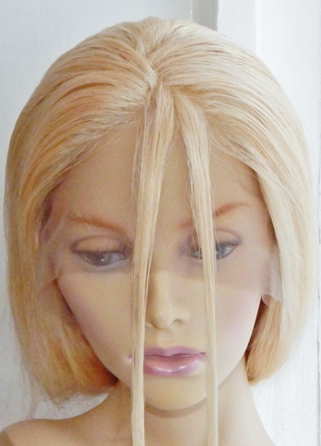 Section of hair divided into two for twisting