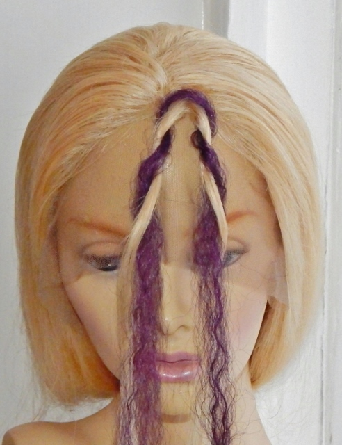 Twist braid hair extensions qa attach and twist hair braiding step 4 second section of hair extensions wound around other section of hair in opposite direction pmusecretfo Image collections