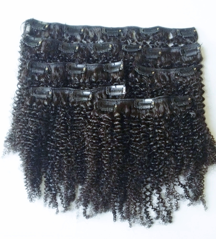 African American Hair Extensions - Afro Clip-in Extensions