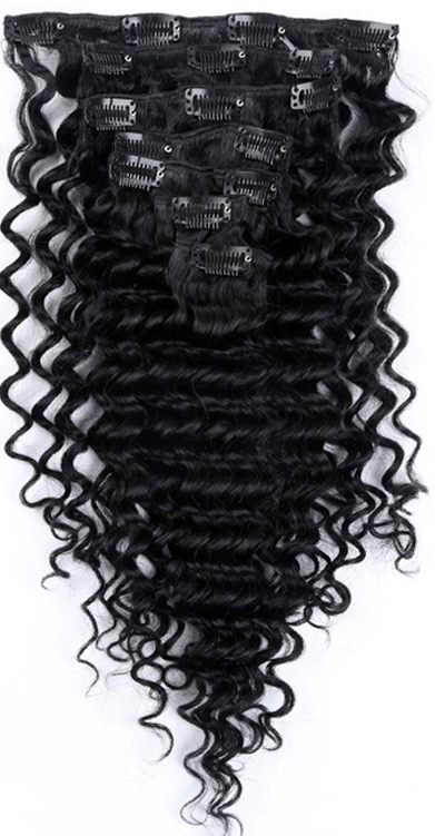 African American Hair Extensions - Kinky Curl Clip-in Extensions