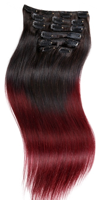 Ombre Silky Straight Clip in Hair Extensions