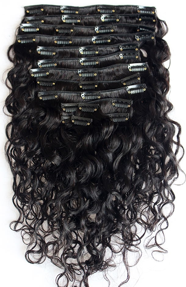 Wavy Clip On Hair Extensions