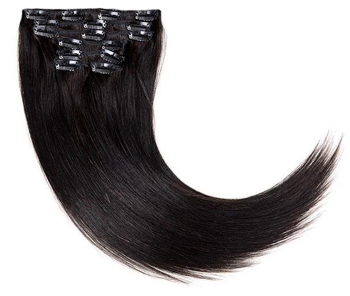 Brownish-Black Clip On Hair Extensions