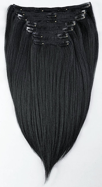 Light Yaki Straight Clip In Hair Extensions