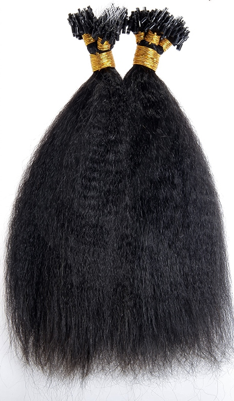 Kinky Straight Micro Loop Human Hair Extensions