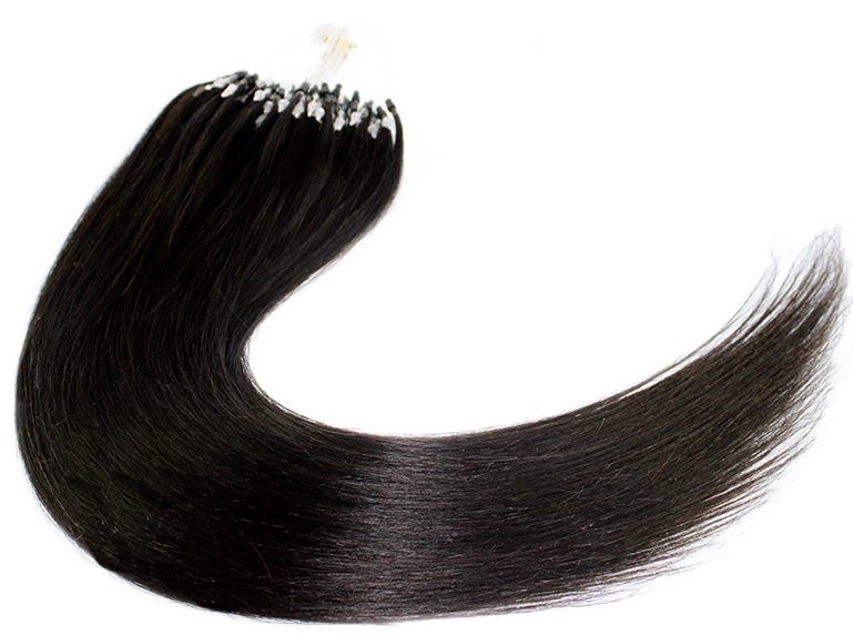 Yaki Straight Micro Loop Human Hair Extensions