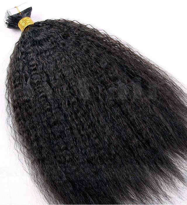 Skin Weft Hair Extensions Kinky Straight A Blow Dried Afro Hair