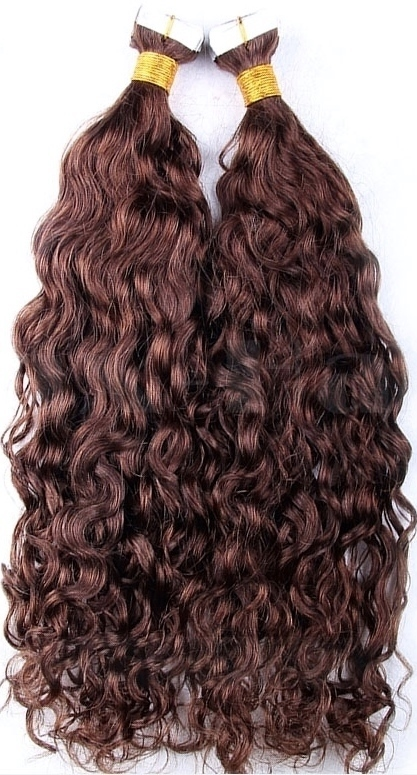 Water wave Tape in Hair Extensions