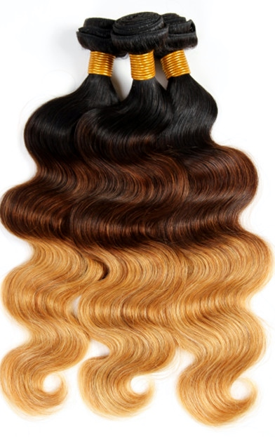 Tri-colour weave hair extensions
