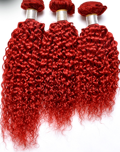 Red Kinky Curly Weave Hair