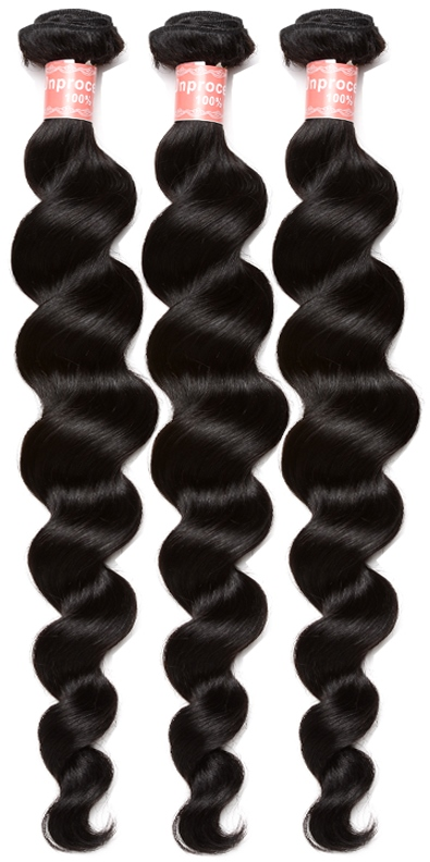African American Human Hair Extensions - Loose Wave Hair Weave