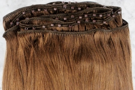 Micro weft hair extensions for thinning hair