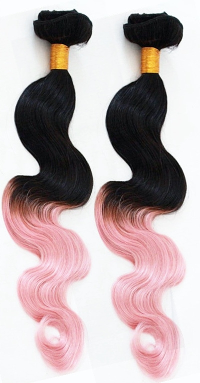 Pink Hair Extensions: Ombre Pink Weave Hair Extensions