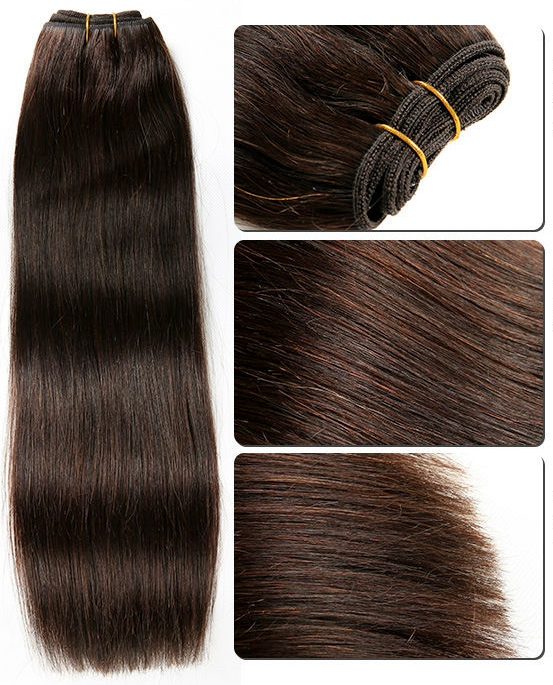 Silky Straight Brown Weave Hair