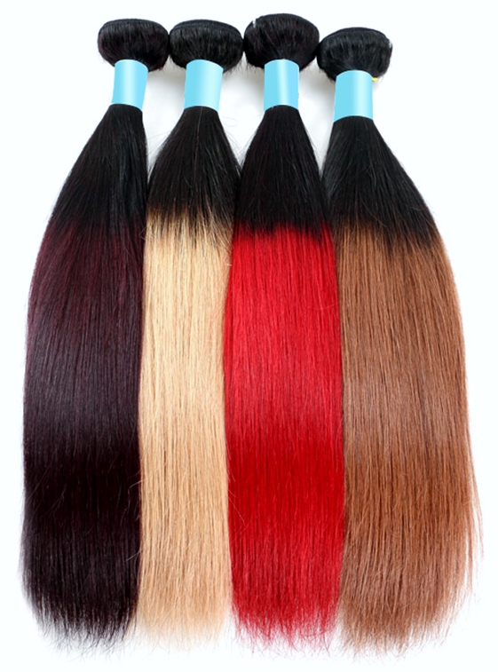 Yaki Straight Ombre Weave Hair