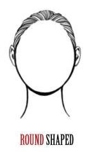 Round shaped face - wigs by face shape