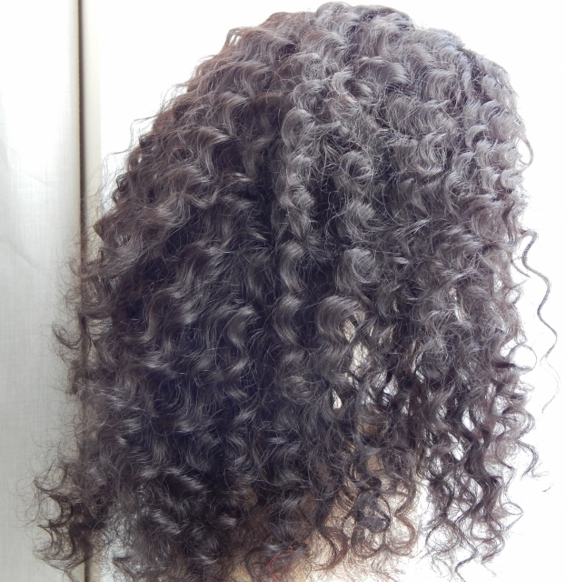 20 Inch Deep Wave Lace Front Wig Combed Out Back