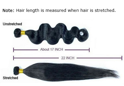 Measuring hair extensions