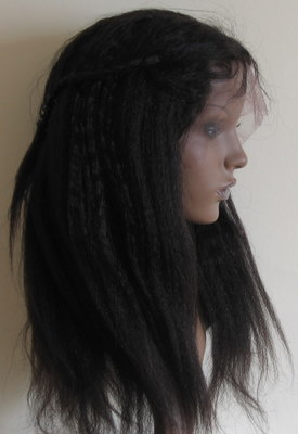 African American Hairpiece - Kinky Straight