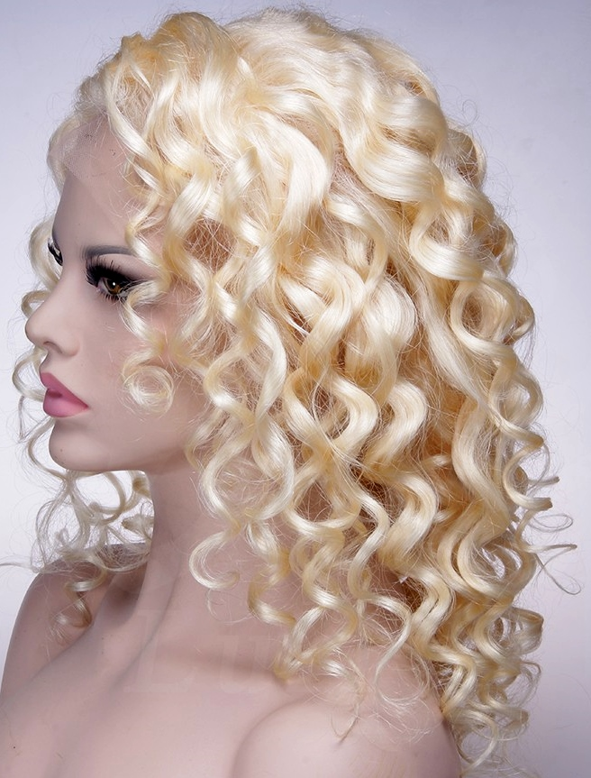 Curly Blonde Lace Wig