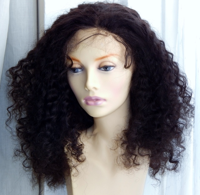 20 Inch Deep Wave Lace Front Wig Combed Out