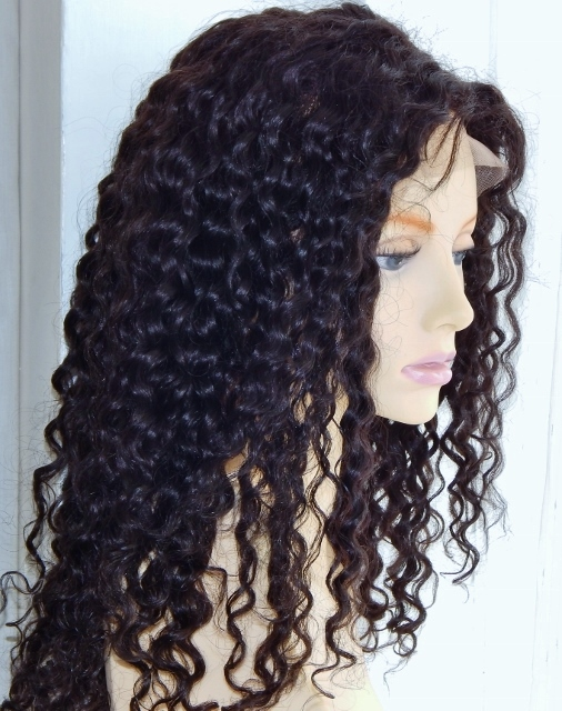 18 Inch Deep Wave Lace Front Wig Washed