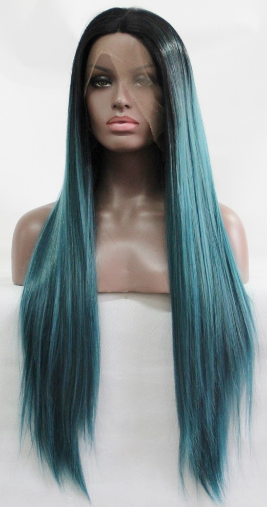 Green Lace Front Wig